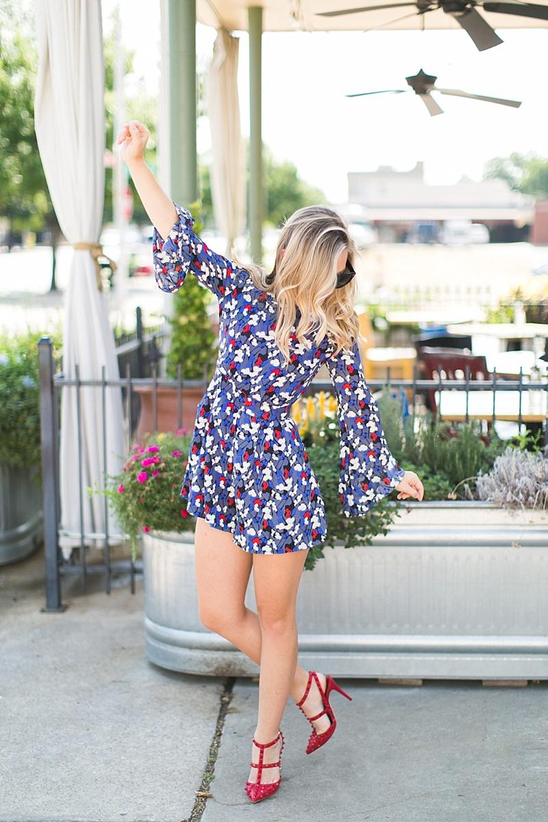 Nordstrom Glamorous Floral Print Long Sleeve Romper