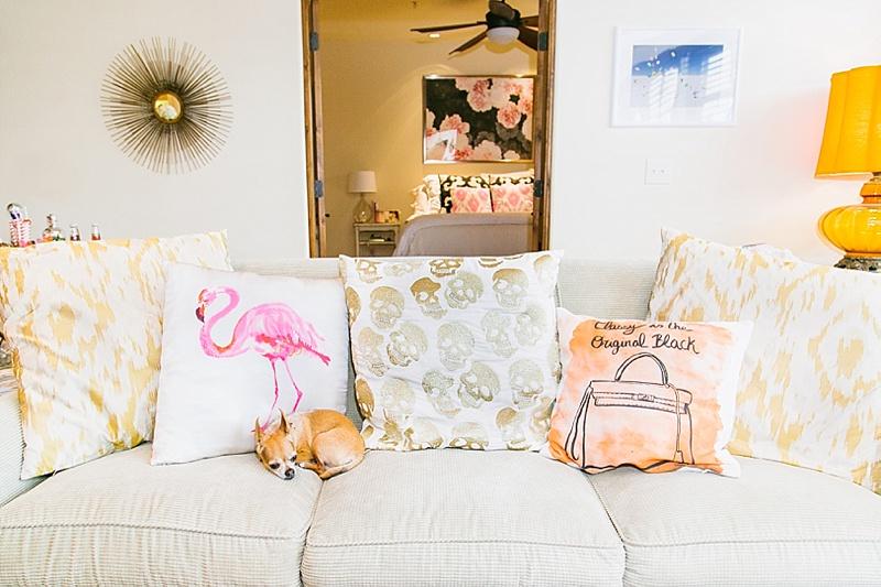 Couch, Pillows, Fun Pillows