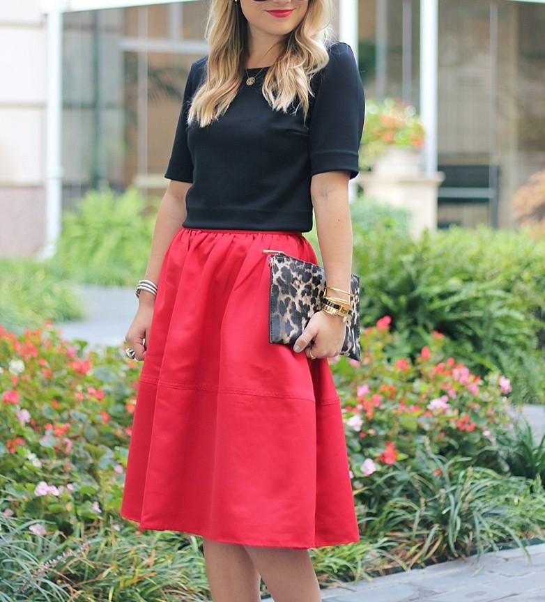 Red Midi Skirt | MURPHY'S LAW