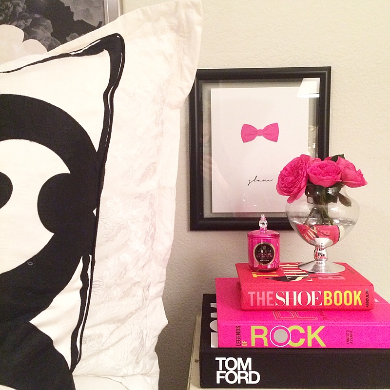 At Home, Interiors, Books, Home Decor, Pink, Black and White