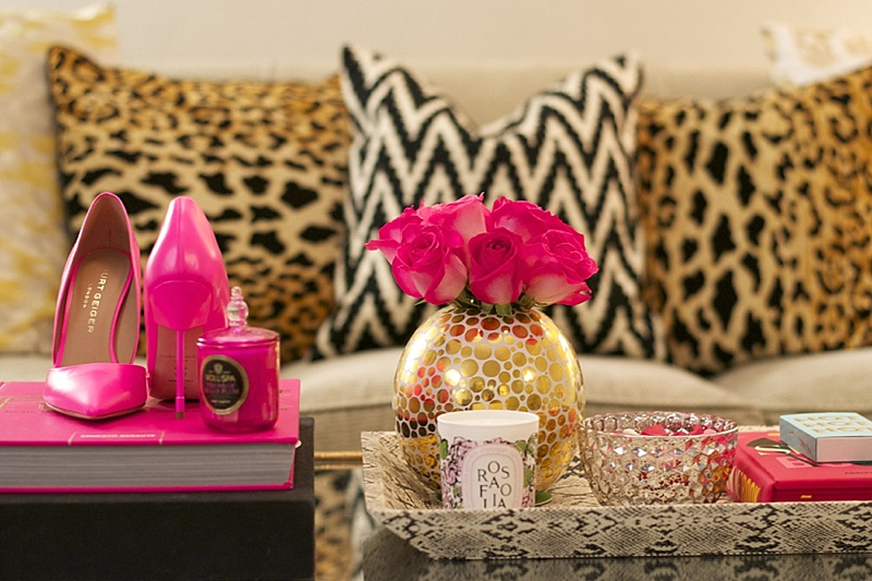 interiors at home interior pink candles voluspa diptyque leopard - Candles Home Decor