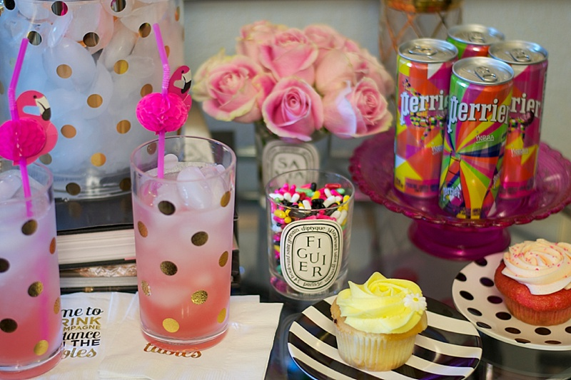 Bart Cart, Entertaining, Kate Spade, At Home, Interiors, Cocktails, Cute Bar Cart, Kate Spade Home, Cupcakes, Colorful, entertaining at home
