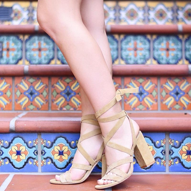 Lace up sandals, summer sandals, scrappy sandals