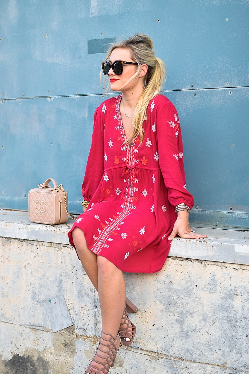Free People Dress, Nordstrom, Nordstrom Free People, Nordstrom Anniversary Sale, Chanel Bag, Steve Madden Heels, Steve Madden Sandals, Le Specs, Nordstrom Sunglasses, Steve Madden Nordstrom, Dallas Blogger