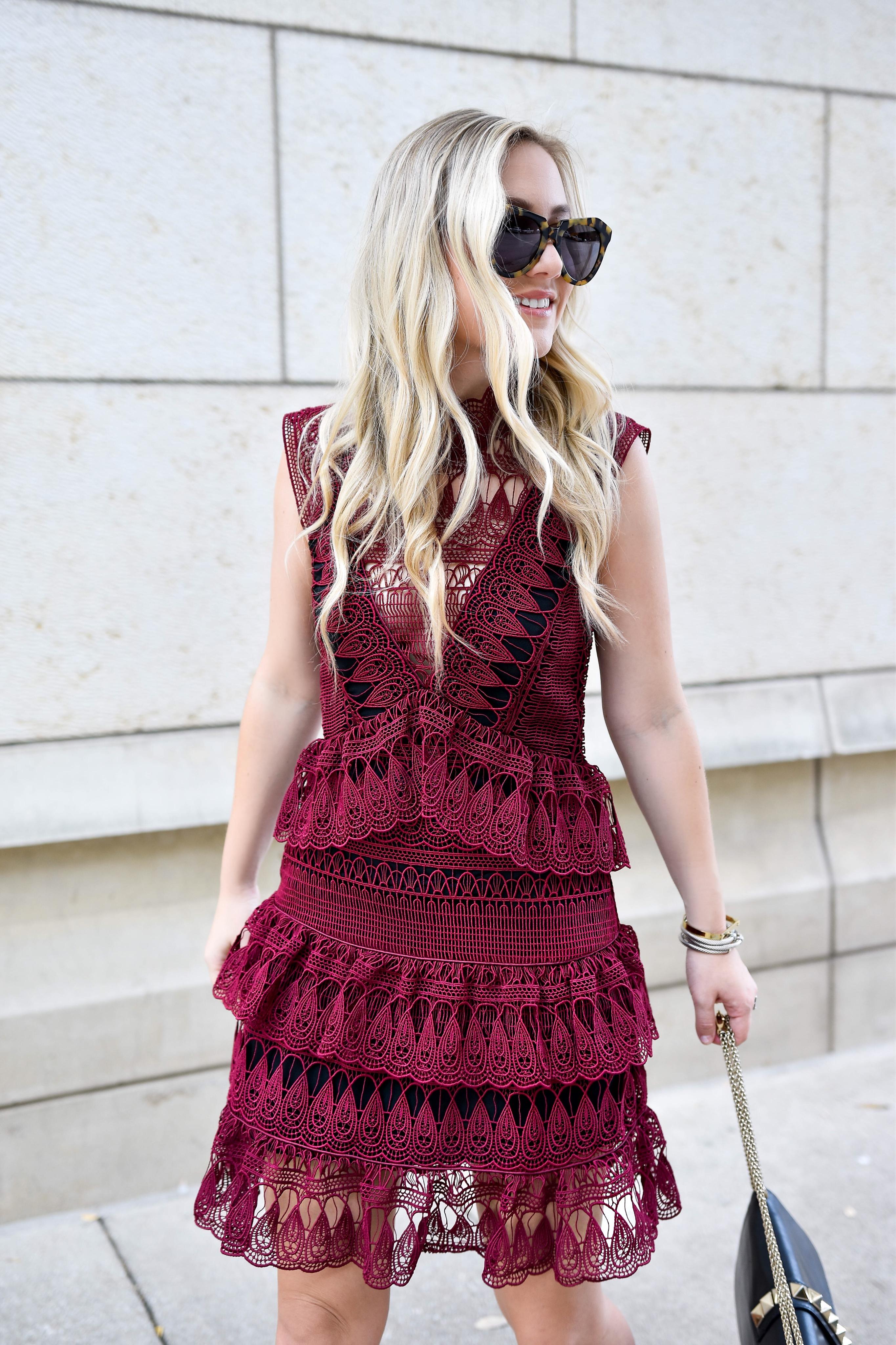 Self-Portrait-Sleeveless-Lace-Mini-Dress, Self-Portrait-Neiman-Marcus, Neiman-Marcus-Sale, Valentino-handbag