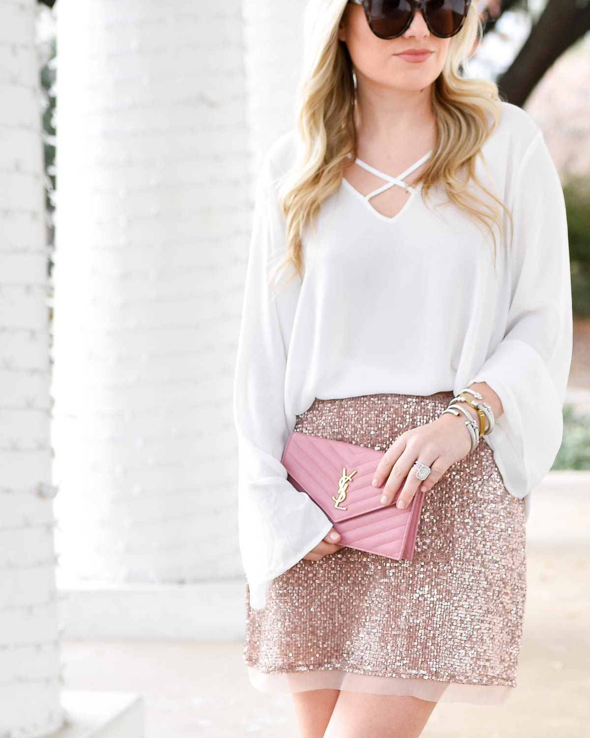 Nordstrom, Nordstrom-womens, Nordstrom-skirt, sequin-skirt, free-people-skirt, valentino-rockstuds, ssl-handbag, new-years-eve-outfit, pink-skirt
