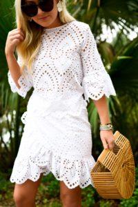 White-eyelet-dress, Winona-Australia-dress, White-wrap-dress, Revolve-dresses, Cult-Gaia-Arc-Bag, David-Yurman-Bracelets