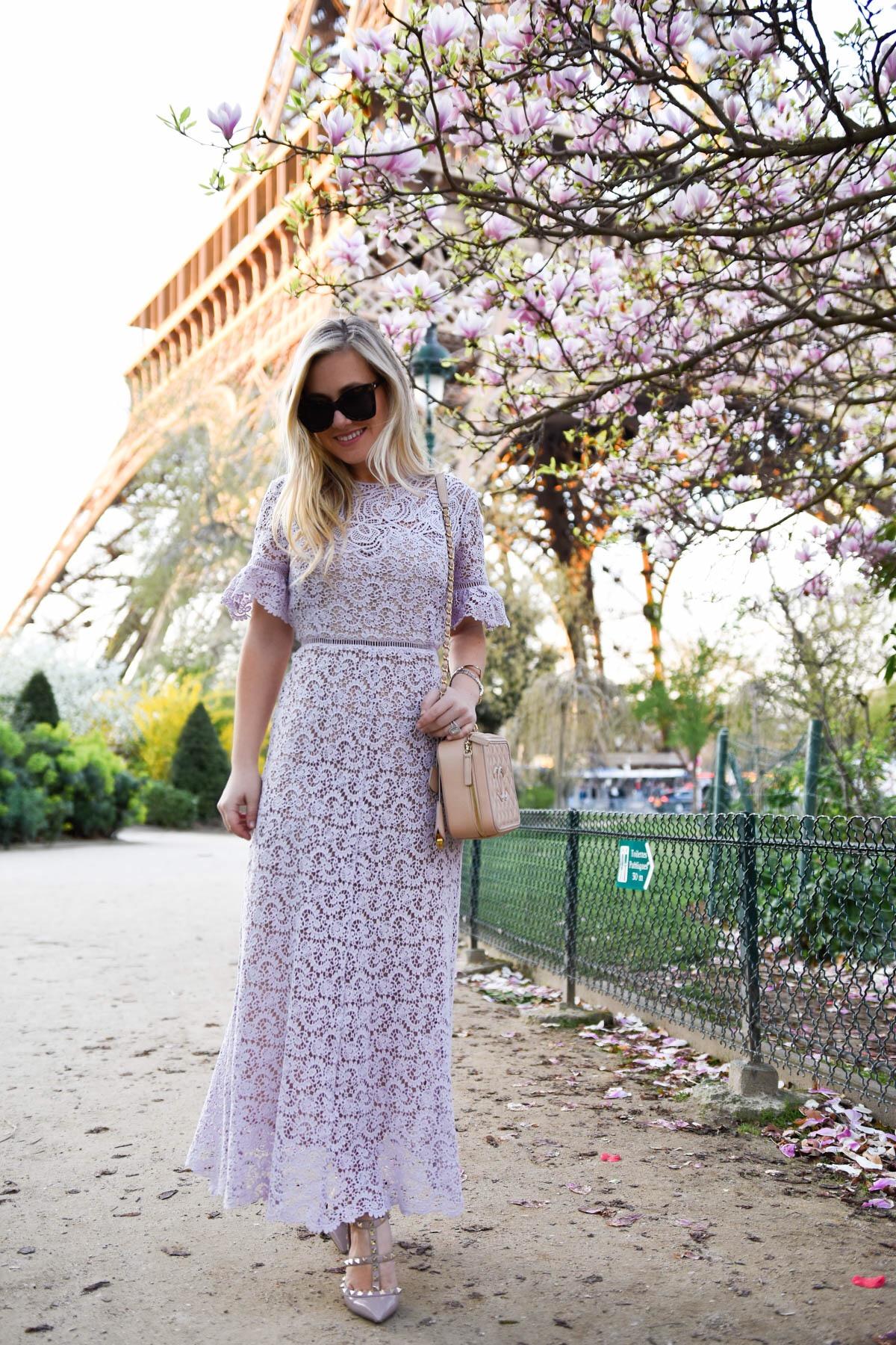 Rebecca-Taylor-Eliza-Lace-Midi-Dress, Paris, Lomurphy