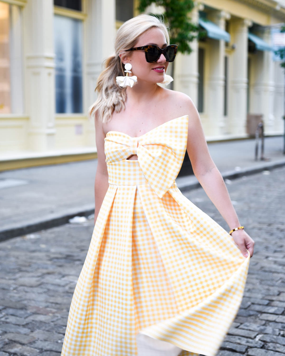 Yellow-Gingham-Dress, Yellow-Bow-Dress