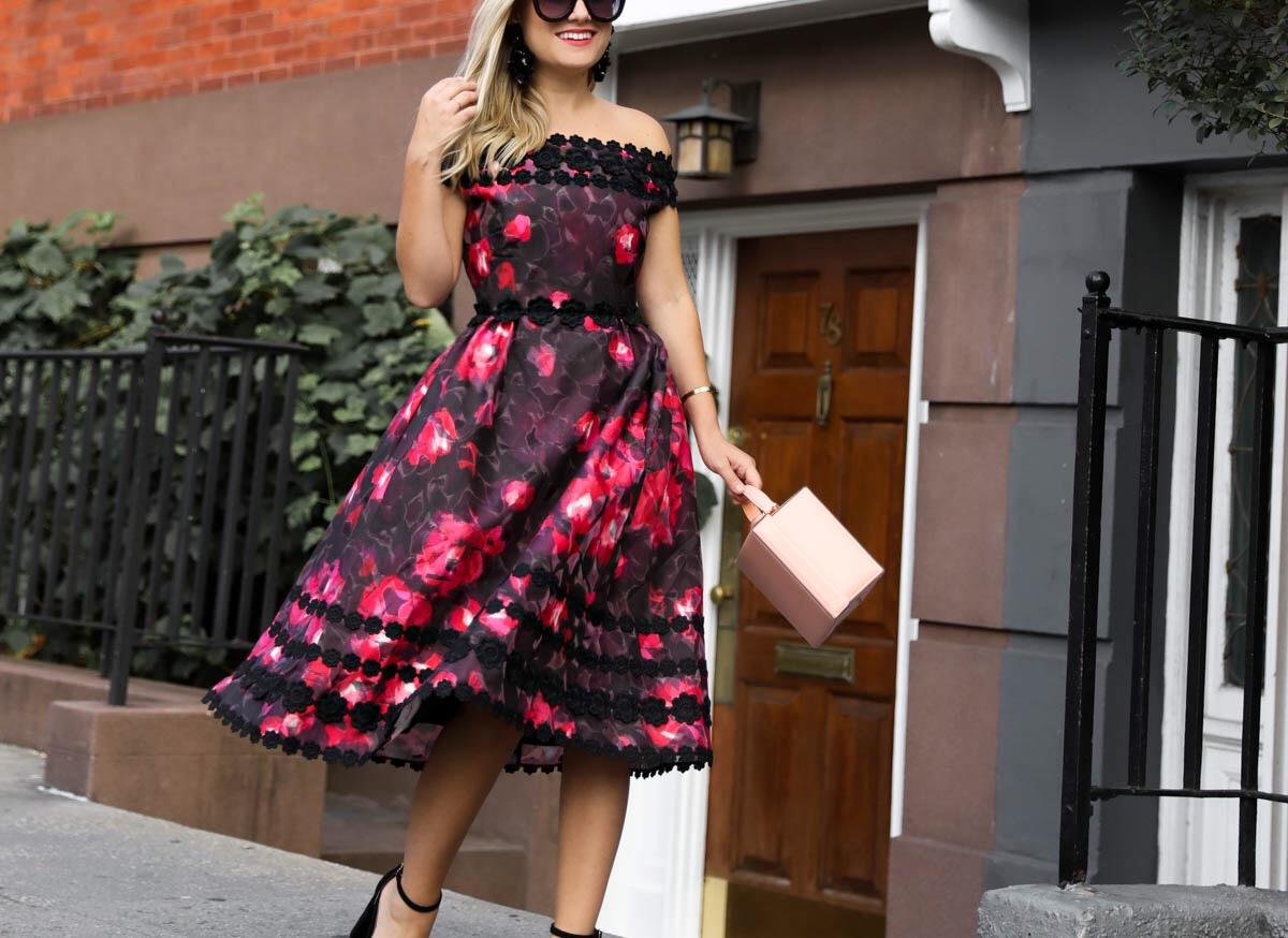 Kate Spade Dress, Kate Spade Atlas Rose Kay Dress, Mark Cross Handbag, Steve Madden Heels, Steve Madden Sandals, Kate Spade dresses, new york, kate spade 2017 Presentation