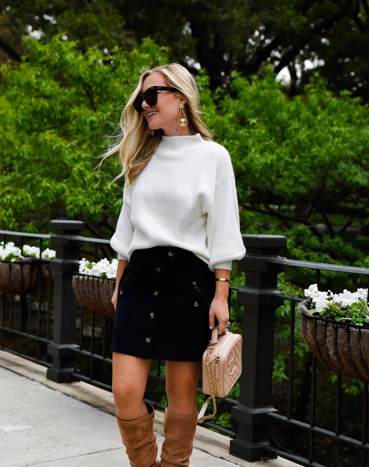 Mock Sweater + Mini Skirt