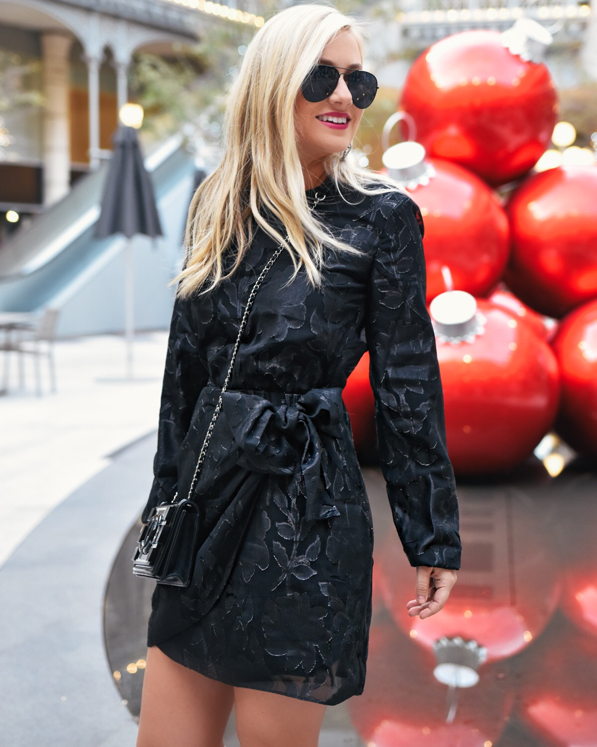 Holiday Dresses, LBD, Little Black Dress, Nordstrom Dresses, Holiday Black Dress, Black Dress under $150, Bardot Black Dress, Chanel Handbag
