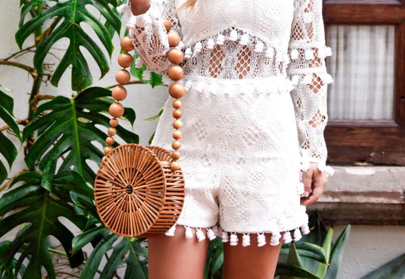 Alexis Danika Romper, White Tassel Romper, White Romper, Cult Gaia, Cult Gaia Bag, Travel Blogger, Fashion Blogger, LoMurph, Lo Murphy, Mexico, Sam Edelman Sandals