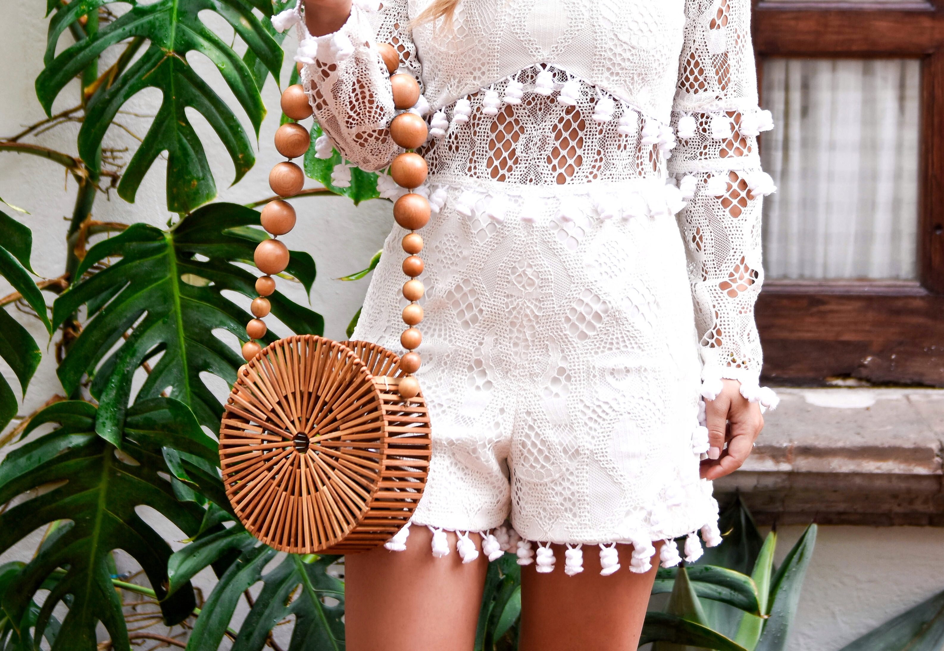 Alexis Danika Romper, White Tassel Romper, White Romper, Cult Gaia, Cult Gaia Bag, Travel Blogger, Fashion Blogger, LoMurph, Lo Murphy, Mexico, Sam Edelman Sandals