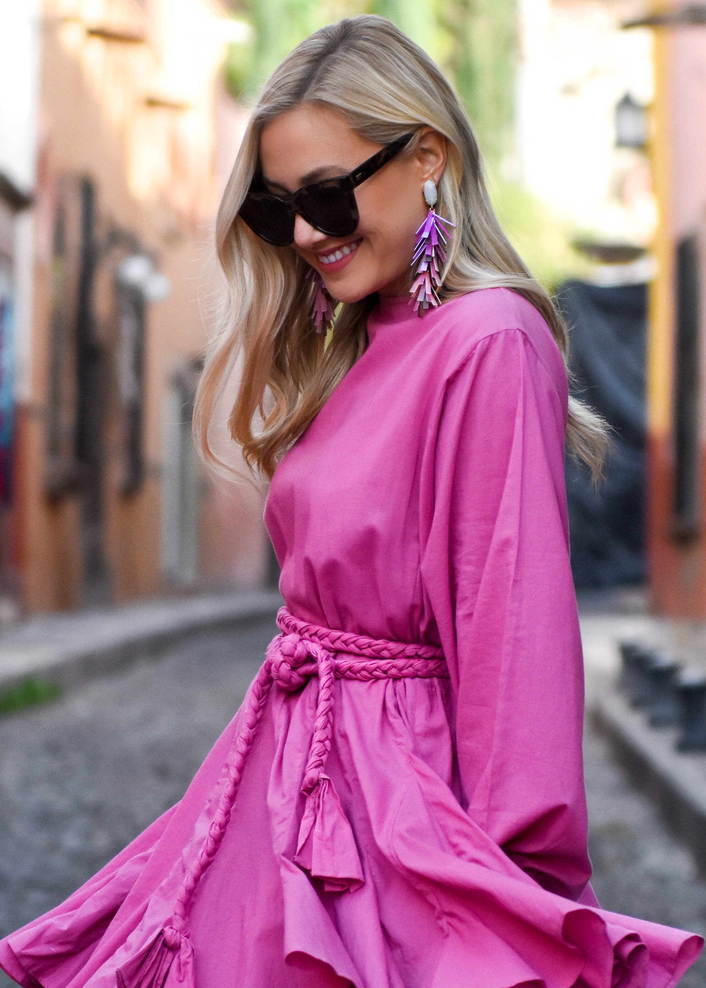 Kendra Scott, Kendra Scott Earrings, Dallas Blogger, Fashion Blogger, Travel Blogger, Mexico, Cult Gaia, Le Specs Sunglasses, Kendra Scott Justyne Statement Earrings, Schutz Heels, Lo Murphy, LoMurph
