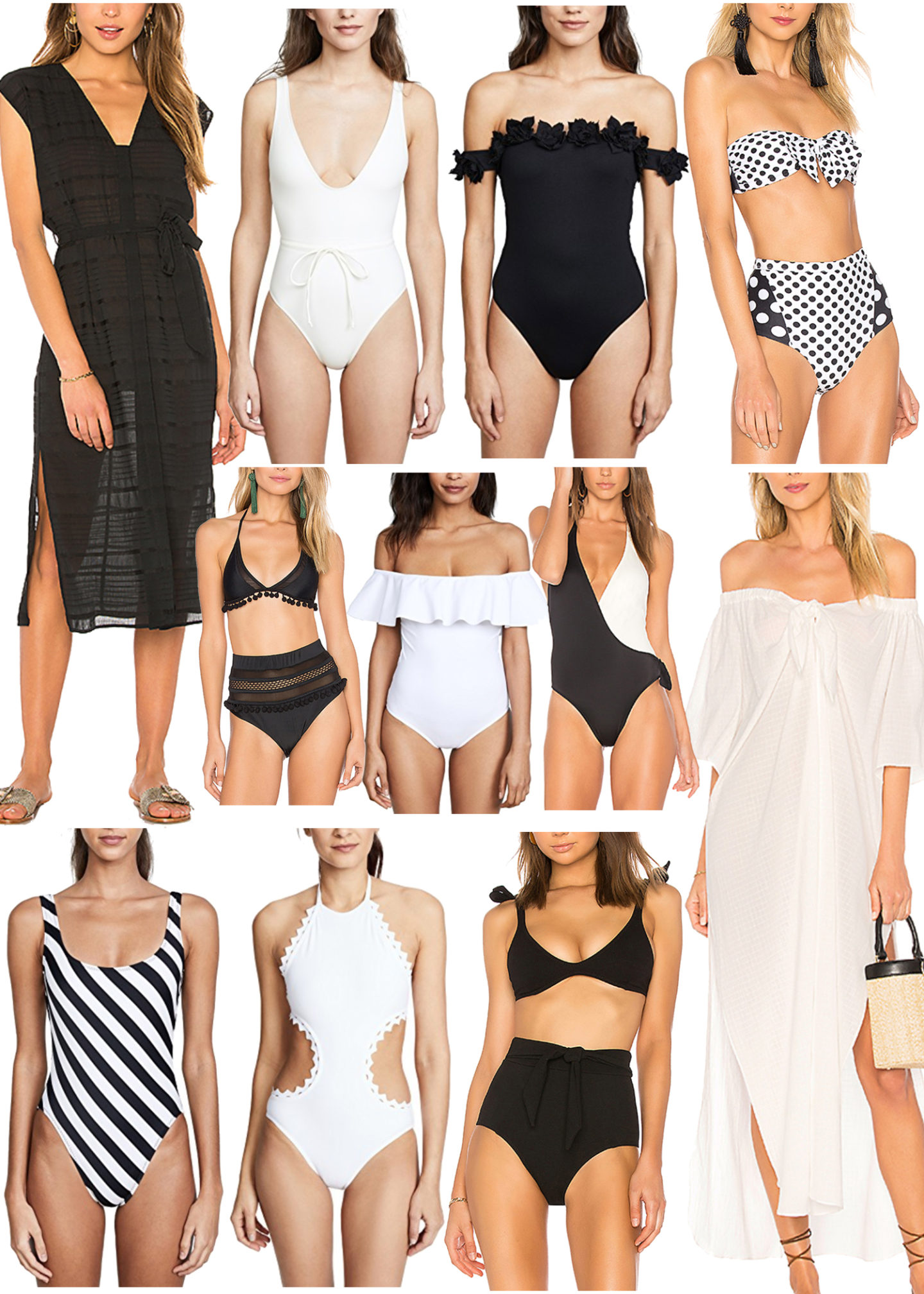 Black and White Swimwear