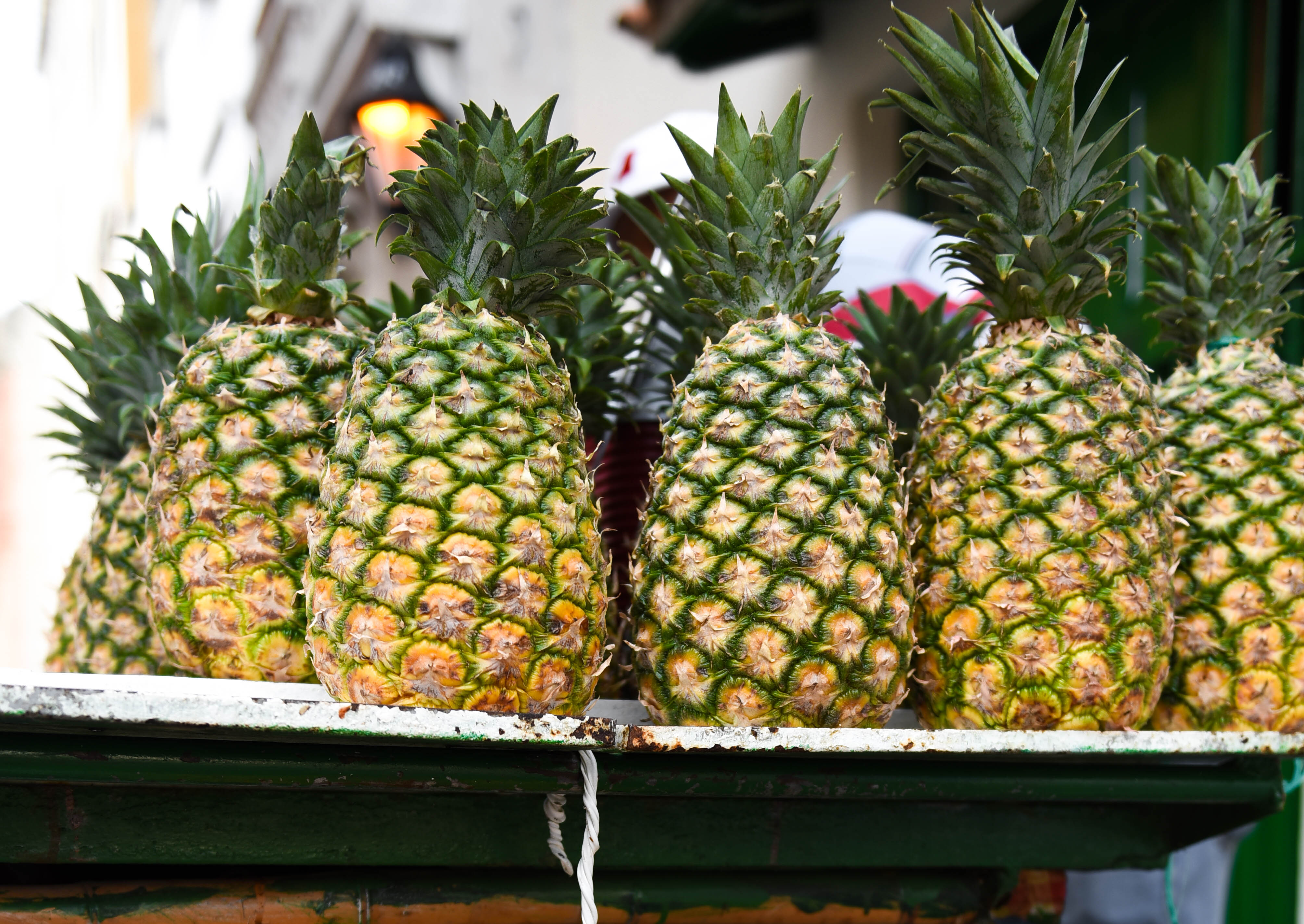 Pineapples, pineapple stand, cartagena, cartagena fruit stand