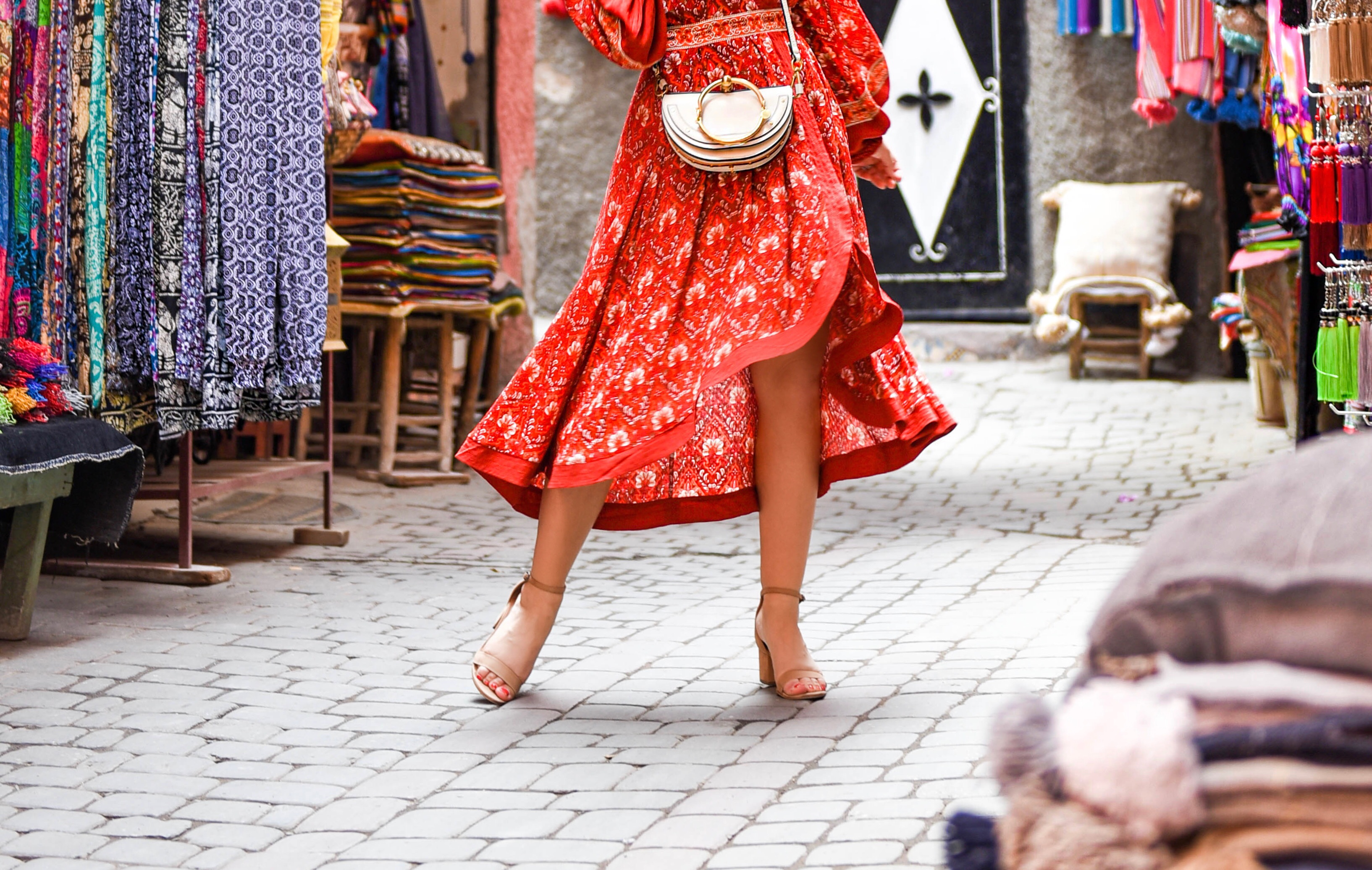 Lo-Murphy-Lo-Murph-Red-Dress-Marrakech-Souks-Spell-Byron-Bay-Travel-Style-Revolve-Dress
