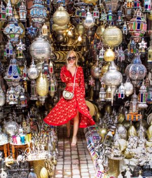 Lo-Murphy-Red-Dress-Marrakech-Souks-Spell-Byron- Bay-Travel-Style