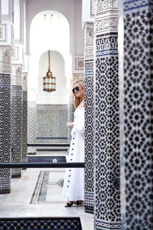 Marrakech-La-Momounia-Lo-Murphy-Mara-Hoffman-Dress-Button-Front-Dress-Travel-Blogger-White-Dress-beautiful-places