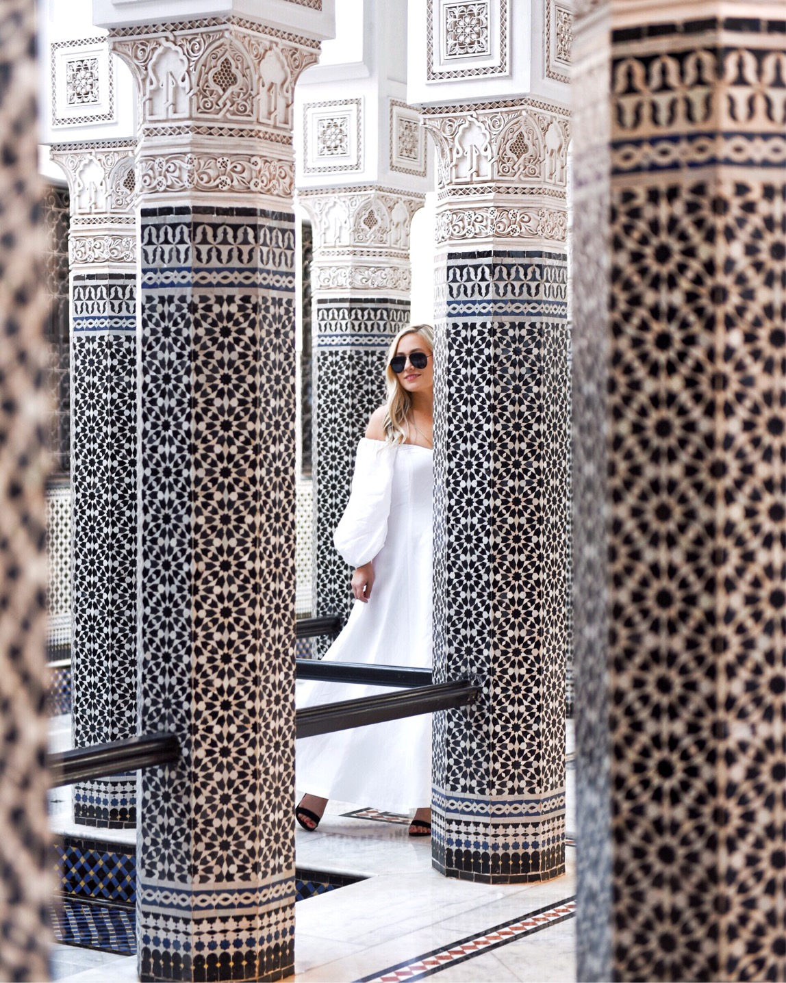 Marrakech-La-Momounia-Lo-Murphy-Mara-Hoffman-Dress-Button-Front-Dress-Travel-Blogger-White-Dress