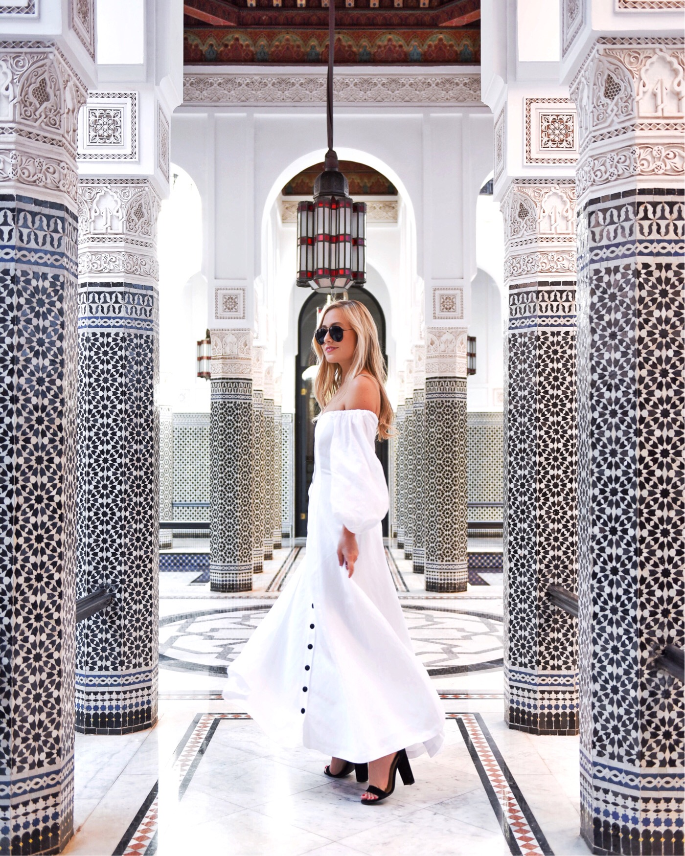 Marrakech-La-Momounia-Lo-Murphy-Mara-Hoffman-Dress-Button-Front-Dress-Travel-Blogger