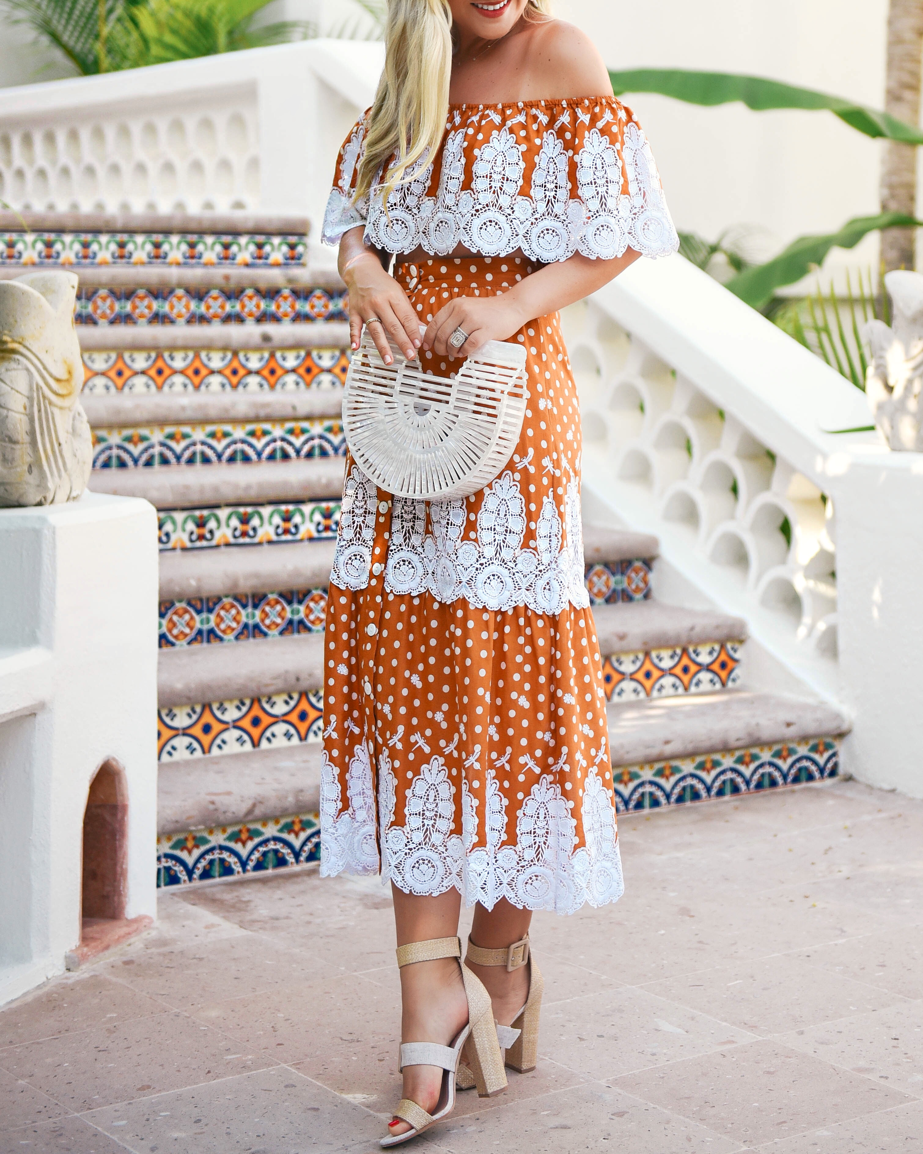 Miguelina-Shopbop-Matching-Set-Lo-Murphy-Miguelina-Orange-Set-Lace-Dress-1