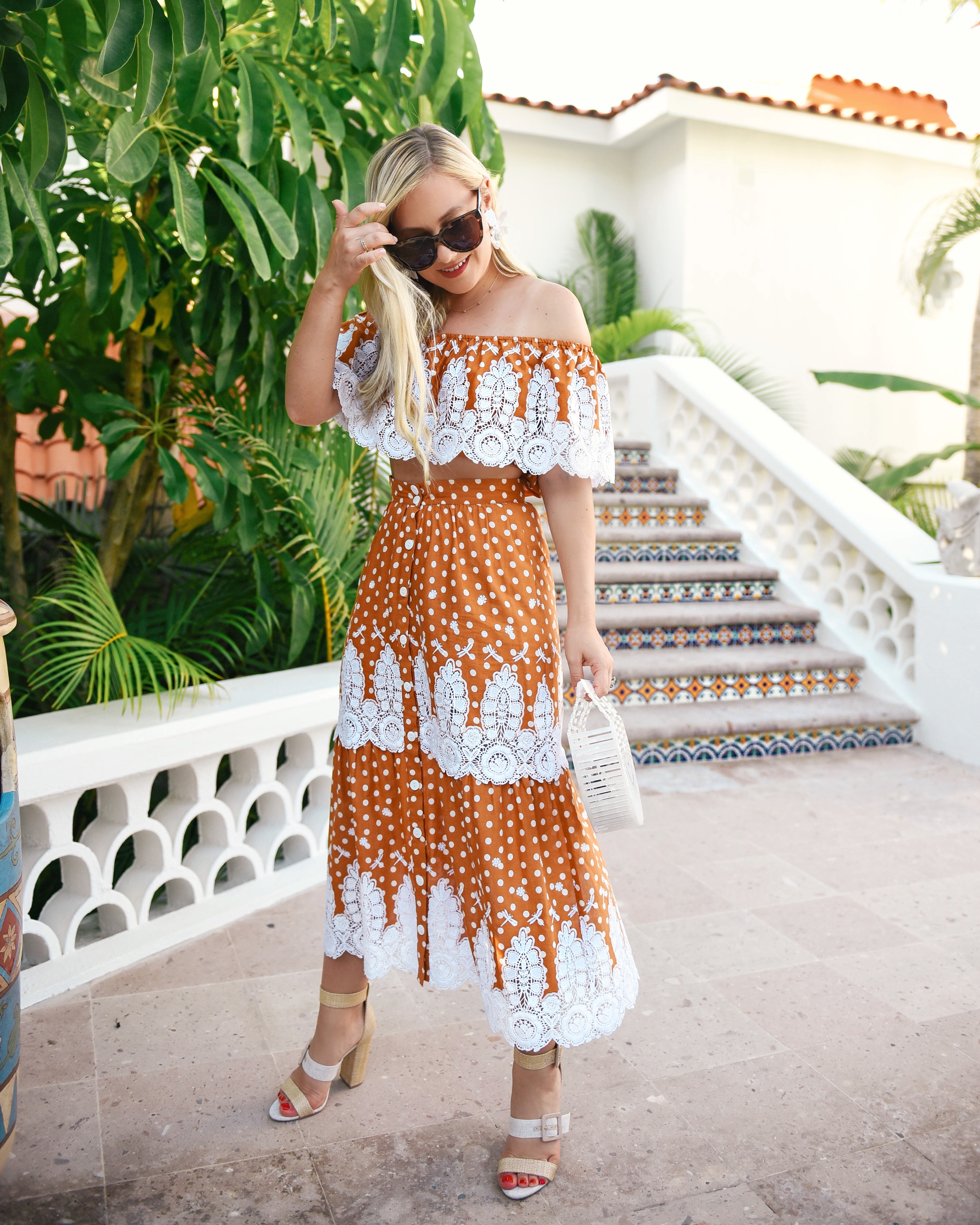 Miguelina-Shopbop-Matching-Set-Lo-Murphy-Miguelina-Orange-Set-Lace-Dress-2