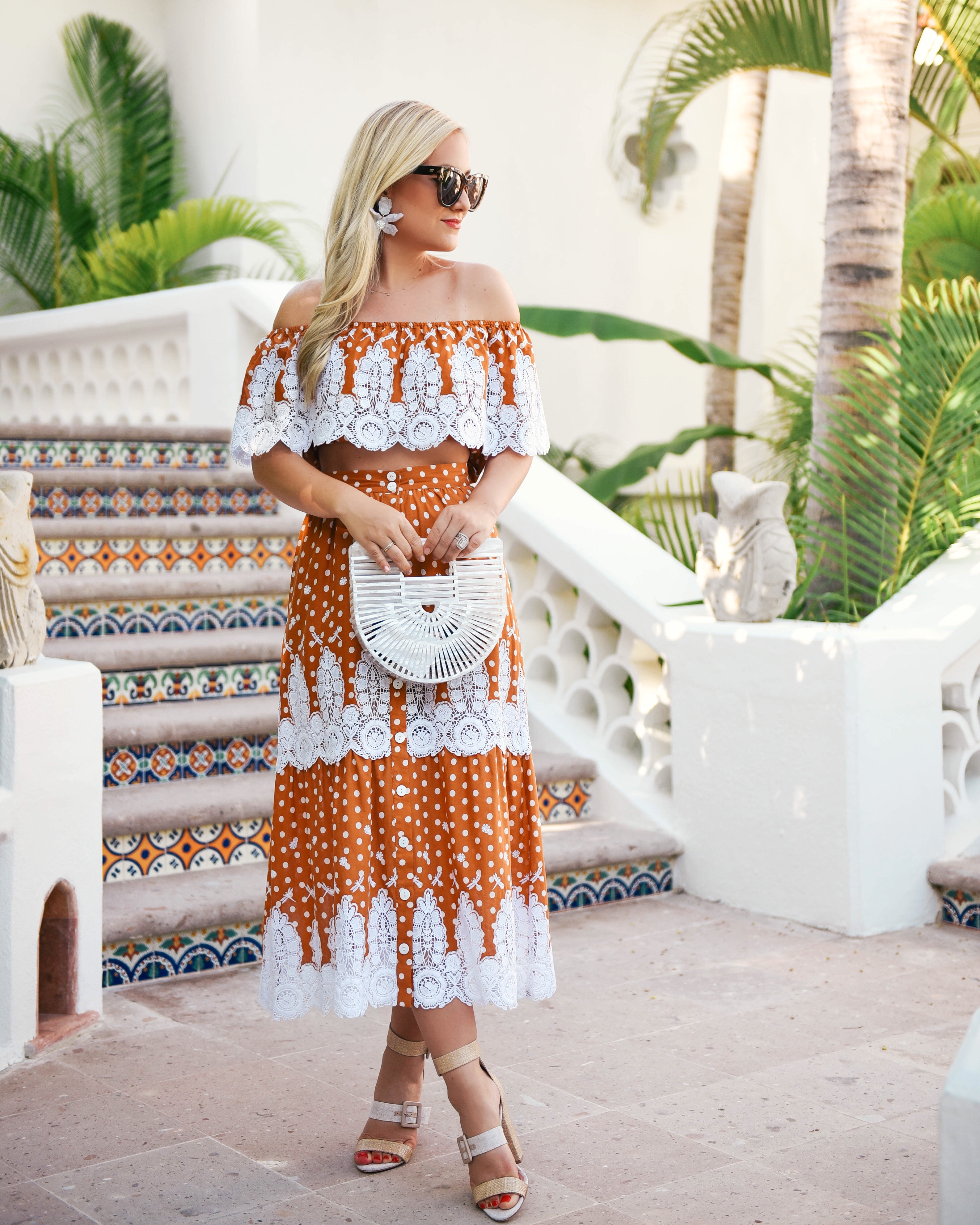 Miguelina-Shopbop-Matching-Set-Lo-Murphy-Miguelina-Orange-Set-Lace-Dress-Cabo