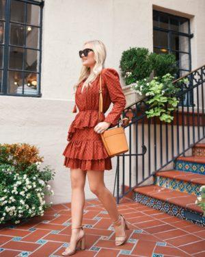Ulla-Johnson-Dress-Nordstrom-Lo-Murphy-Fall-Outfit-Inspo-Orange-Dress