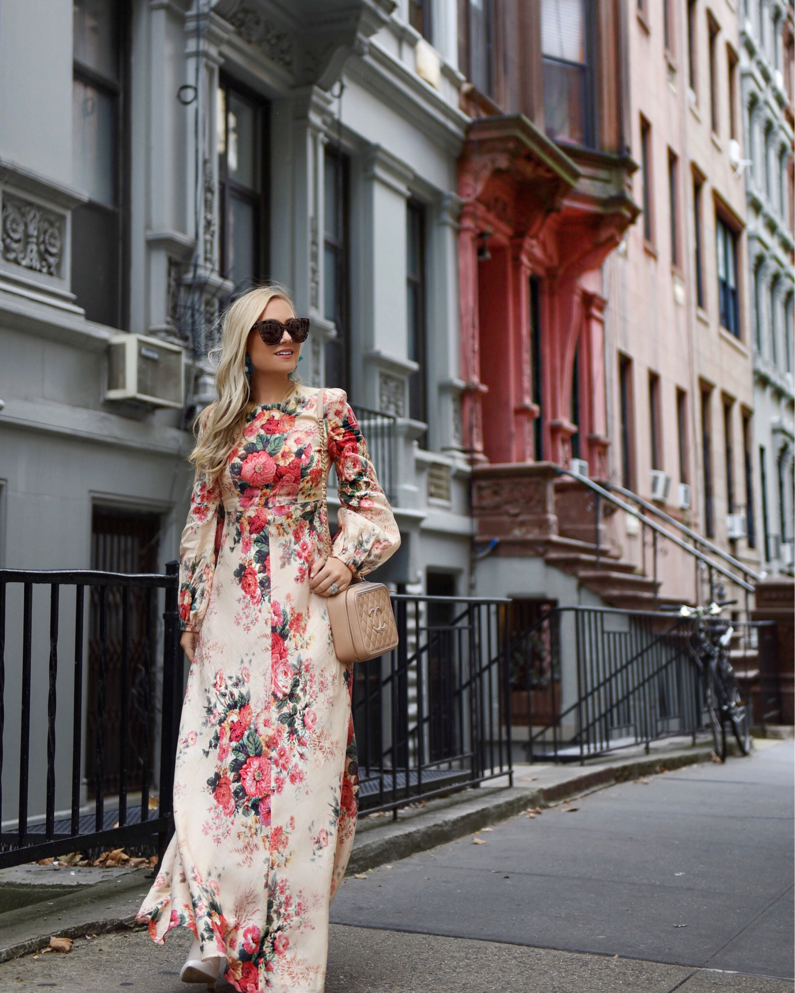 Zimmermann-Dress-Fall-Florals-Saks-Nordstrom-Lele-Sadoughi-Floral-Dress-Chanel-Handbag