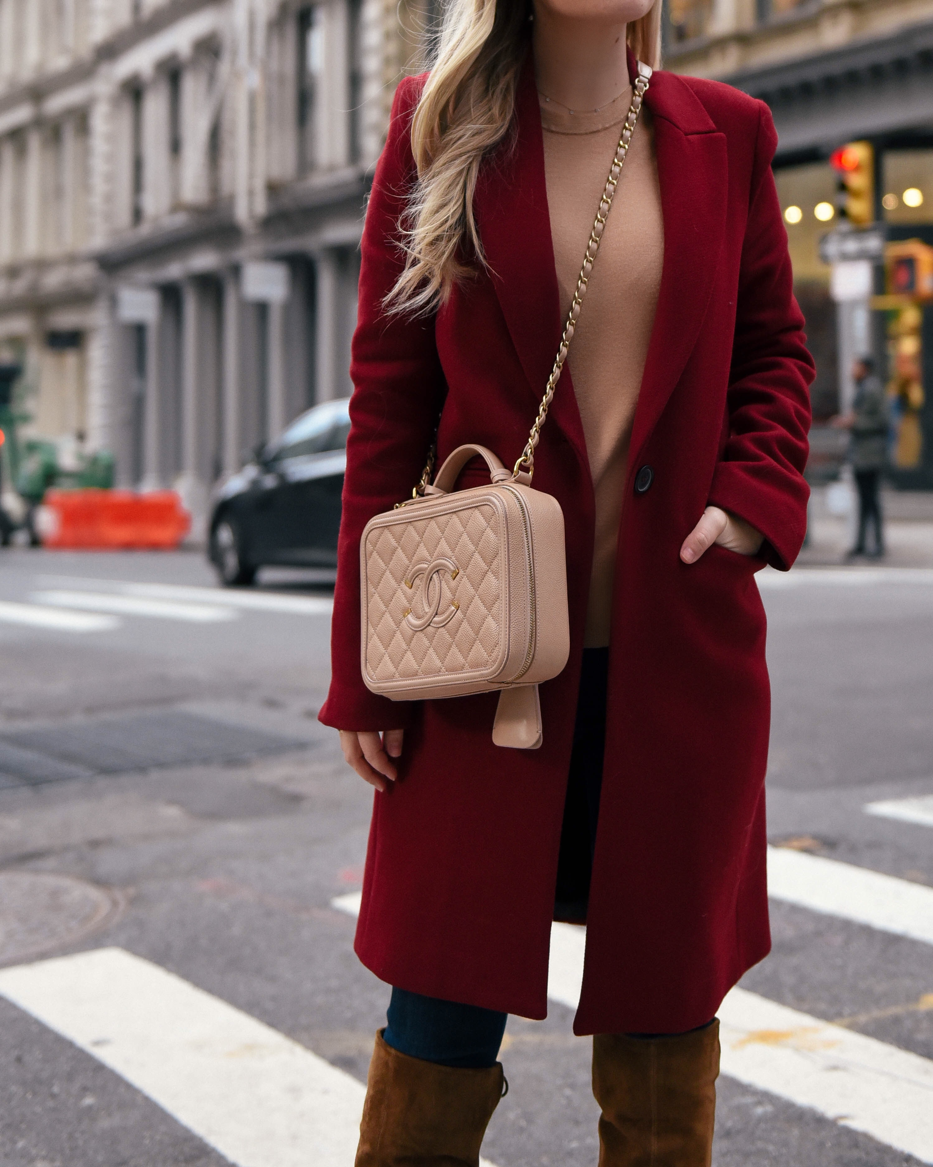 eBay-Coats-Red-Coat-New-York-Chanel-Handbag-Winter-Outfit-Lo-Murphy-Camel-sweater