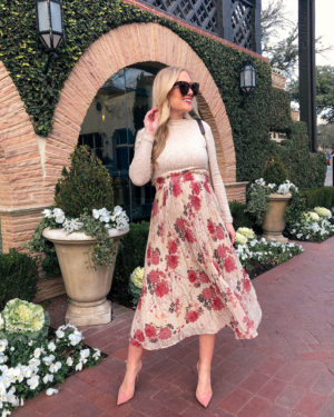 Floral-Skirt-Spring-Outfit-Blogger-Style-Pregnancy-Outfit-Spring-Style-Bump-Style-Nordstrom-Topshop-Lo-Murphy-Maternity-Style-Pink-Pumps-Christian-Louboutin-Pumps