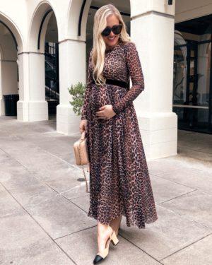 Ganni-Leopard-Dress-Shopbop-Chanel-Slides-Sam-Edleman-sandals-Lo-Murphy-Chanel-Handbag-Leopard-Dress-Leopard-Maxi-Dress