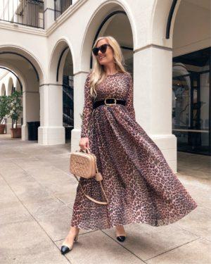 Ganni-Leopard-Dress-Shopbop-Lo-Murphy-Chanel-Slides-Sam-Edleman-sandals-Chanel-Handbag-Leopard-Dress-Leopard-Maxi-Dress