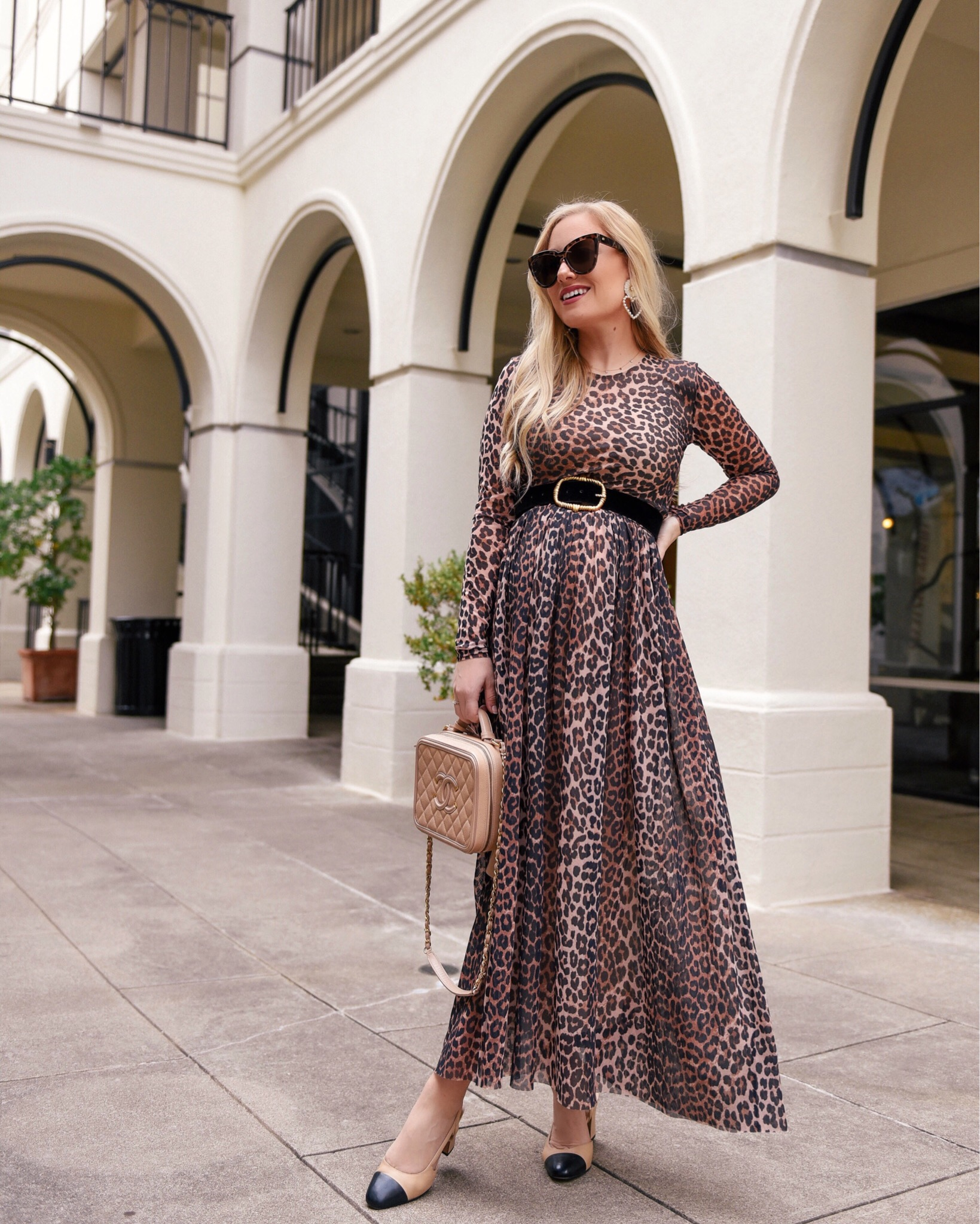 Lo-Murphy-Ganni-Leopard-Dress-Shopbop-Chanel-Slides-Sam-Edleman-sandals-Chanel-Handbag-Leopard-Dress-Leopard-Maxi-Dress