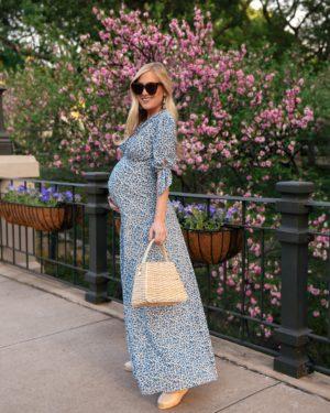 Lo-Murphy-Gal-Meets-Glam-Dress-Aurora-Dress-Floral-Wedges-basket-bag-bump-style-pregnancy-style-dallas-blogger-zara-spring-style