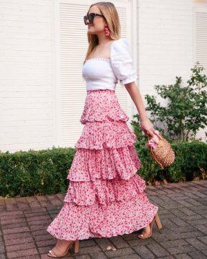 lo-murphy-dallas-blogger-amur-skirt-pink-tierred-skirt-reformation-top-nordstrom-sam-edelman-sandals