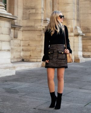 Lo-Murphy-Fall-outfit-mini-skirt-fall-look-ootd-dallas-blogger-tweed-skirt-paris-fall-style