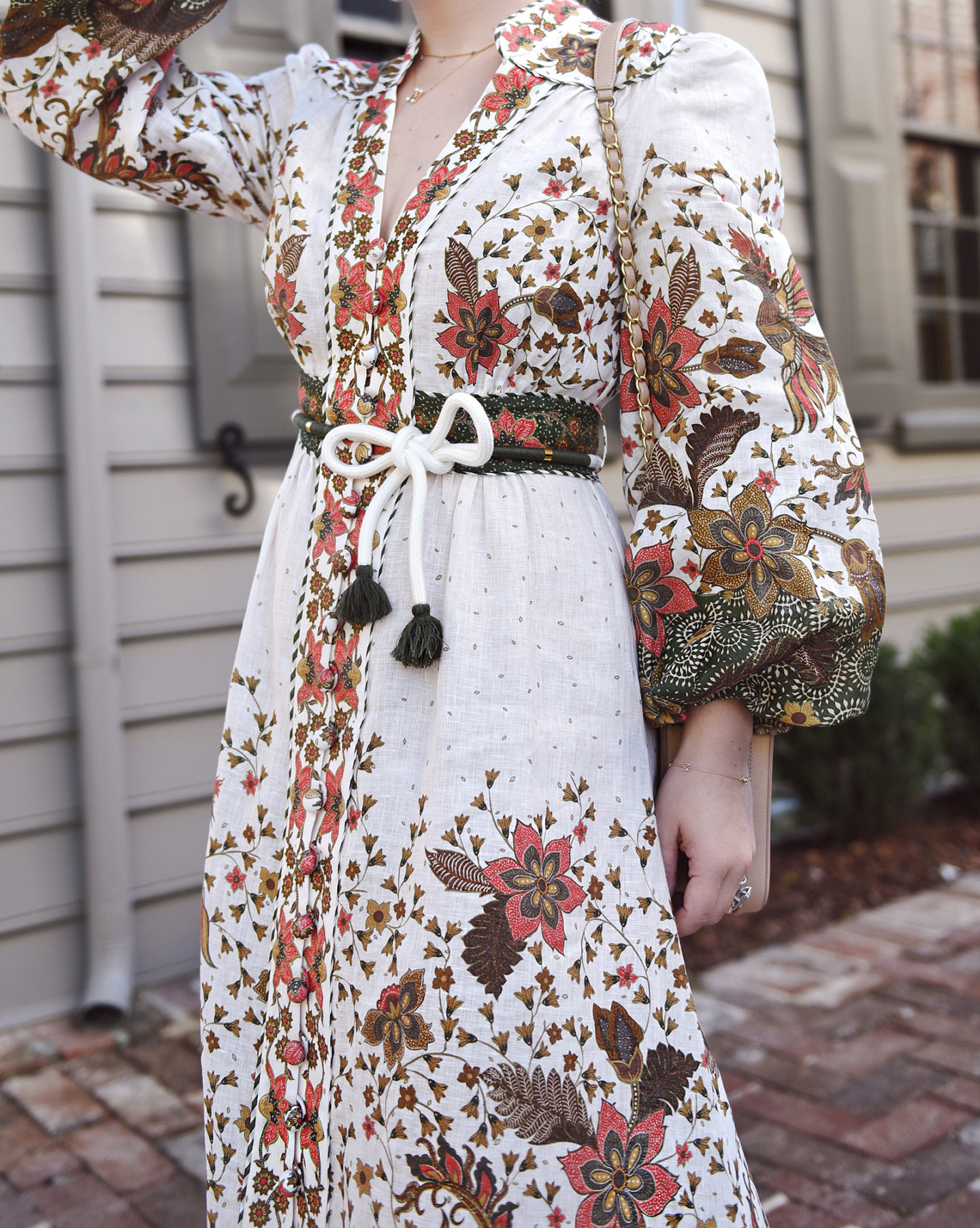 Lo-Murphy-Zimmermann-Maxi-Dress-Fall-Dress-Charleston-fall-style-how-to-style-white-booties-Charleston-Fall-outfit-inspo