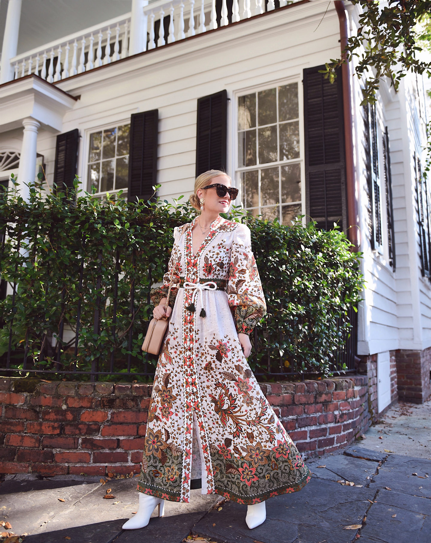 Lo-Murphy-Zimmermann-Maxi-Dress-Fall-Dress-Charleston-fall-style-how-to-style-white-booties