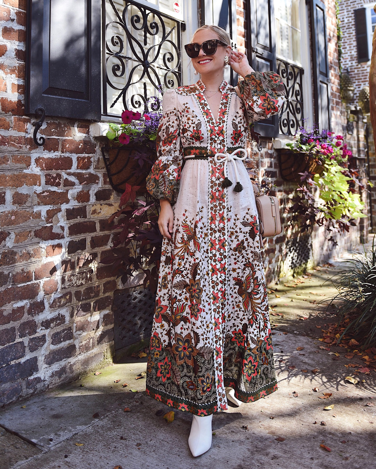 lo-murphy-fall-dress-white-booties-zimmermann-dress-fall-style-charleston